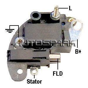 FIAT Lichtmaschinenregler Regler für Lichtmaschine MAGNETI MARELLI 14V 58120053